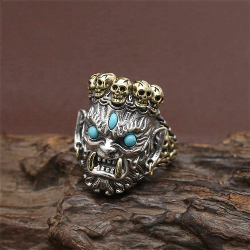 Vintage Gothic Skull Rings Men Fashion HipHop Turkish Male Punk Rings Skeleton Steampunk Jewelry Bague Homme Gifts