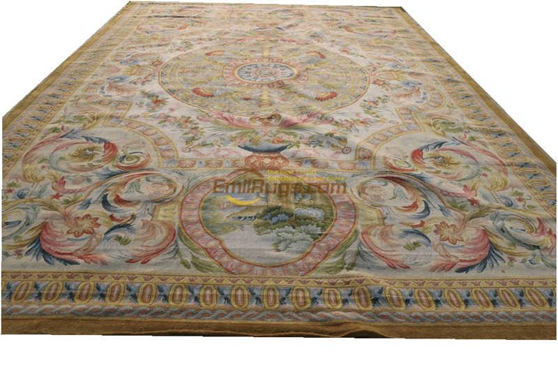 Savonnerie  Oriental Hand-woven Wool Rug Plush Wool French Savonnerie Hand Made Rug Carpet New Listing Art Carpet