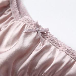 Image 4 - 2pcs/lot New Natural silk briefs lingerie underwear women transparent seamless lace sexy panties bragas mujer panty calcinhas