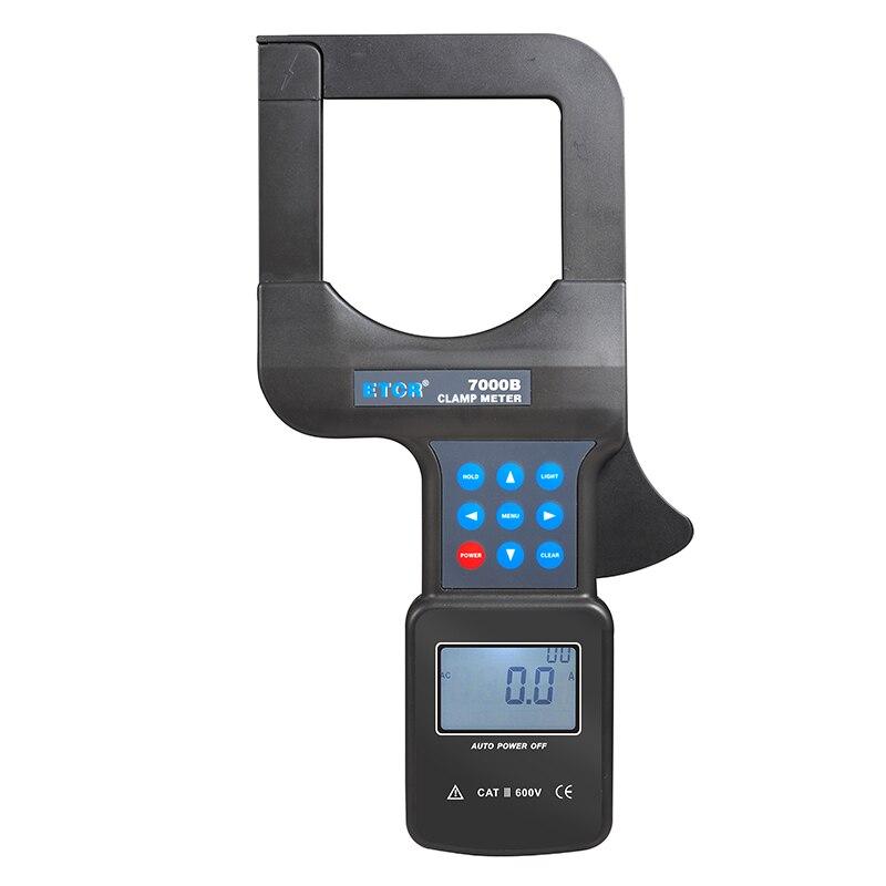 ETCR7000 80mm * 80mm grand diamètre AC pince de courant de fuite avec 0-1200A pince numérique ampèremètre 3 phases voltmètre numérique