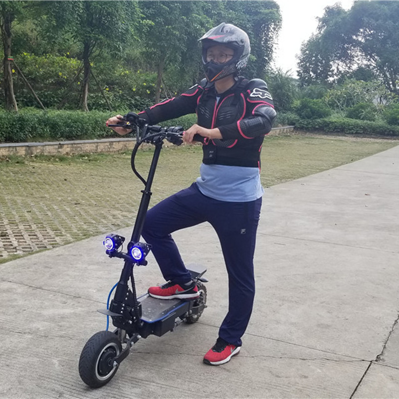 Daibot <font><b>Electric</b></font> <font><b>Scooter</b></font> Off Road Two Wheels 11 Inch <font><b>Electric</b></font> <font><b>Scooters</b></font> 3200W <font><b>60V</b></font> Folding Powerful <font><b>Electric</b></font> <font><b>Scooter</b></font> Skateboard image