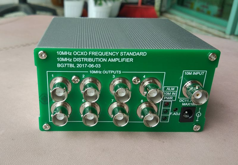 Free Shipping By BG7TBL OCXO Benchmark Frequency Standard 8 Port Output 10MHz Distribution Amplifier