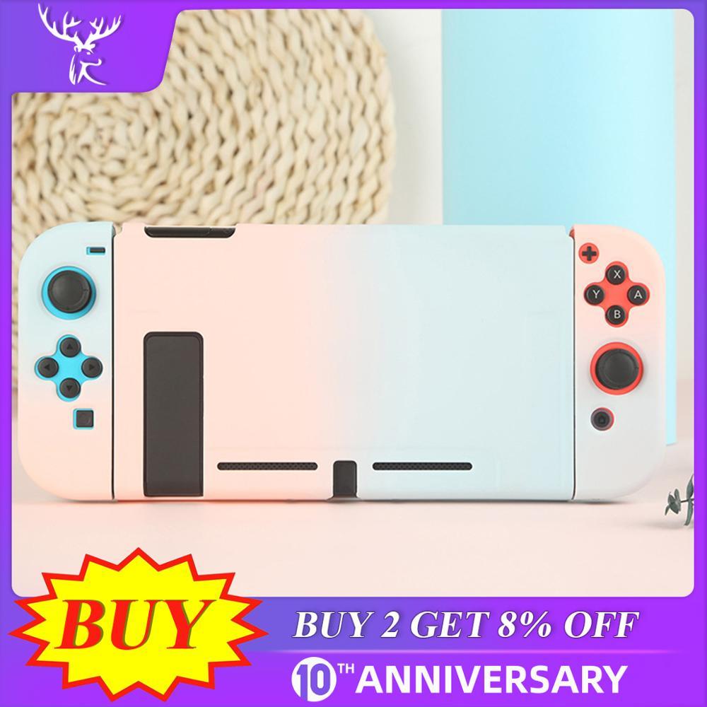 Caso protetor joy con controlador escudo habitação dura capa completa escudo para nintend switch game console colorido