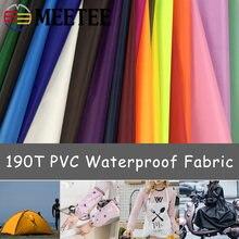 Meetee vêtement imperméable PVC 190T | 100X150cm T, tissu en polyuréthane, tablier à faire soi-même manches Pet, vêtements vêtement parapluie, tissu accessoire FA012
