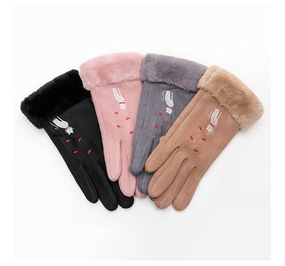 Winter Women Touch Screen Gloves with Embroidery made with a Special Conductive Fabric into Finger Tips for fast Navigation of All Touch Screen Device 11