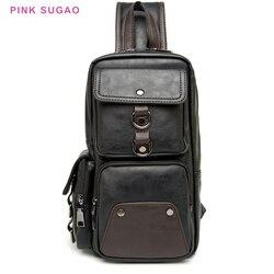 Pink Sugao fanny pack waist bag chest bag fanny pack for men fashion belt bag bum bag designer crossbody fanny pack leather bag