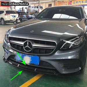 Image 4 - W205 B Style Carbon Fiber Body Kit Front lip for Mearcedes Benz W205 C205 S205 C180 C200 C300 C43 with Amg Sport Bumper 2019UP
