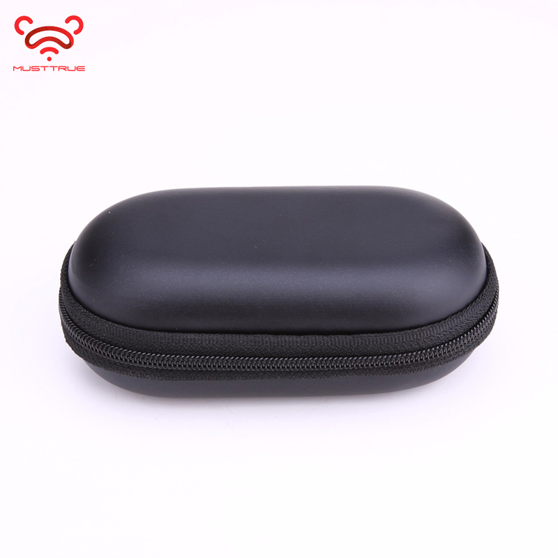 MUSTTRUE Headphone Case Bag Portable Earphone Earbuds Hard Box Storage For Memory Card USB Cable Organizer Mini Earphone Bag
