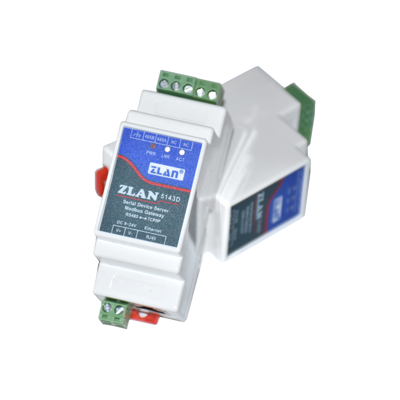 ZLAN5143D Din Rail Mounting Tiny Size RS485 Serial Port To TCP/IP Ethernet Converter Server Modbus RTU To Modbus TCP