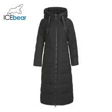 2019 GN418275P 新冬ロングの女性のダウンジャケットファッション暖かい女性ジャケットフードブランド女性服 ICEbear