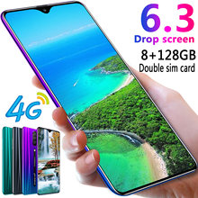 Rino Smartphone Android 4G Cellphones Global Version 6.3 Inch Dual Sim Unlocked Mobile Phone Water Drop Screen