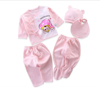 Newborn Set Baby Clothing Suits for Children 0-3Months Cartoon Fashion Clothes Girls and Boys Cotton 5pcs/set Baby Girl Outfits little girls clothing set kids winter clothes 3 pcs baby girls suits fashion 2018 warm children sets for girl boutique outfits
