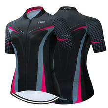 TELEYI 2021 Women Cycling Jersey Tops Summer Cycling Clothing Ropa Ciclismo Short Sleeve mtb Bike Jersey Shirt Maillot Ciclismo