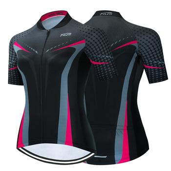 TELEYI 2021 damska koszulka kolarska letnia odzież rowerowa koszulka rowerowa Ropa Ciclismo z krótkim rękawem mtb Maillot Ciclismo tanie i dobre opinie RCC SKY CN (pochodzenie) POLIESTER SHORT WOMEN summer Wiosna AUTUMN Zamek na całej długości Dobrze pasuje do rozmiaru wybierz swój normalny rozmiar