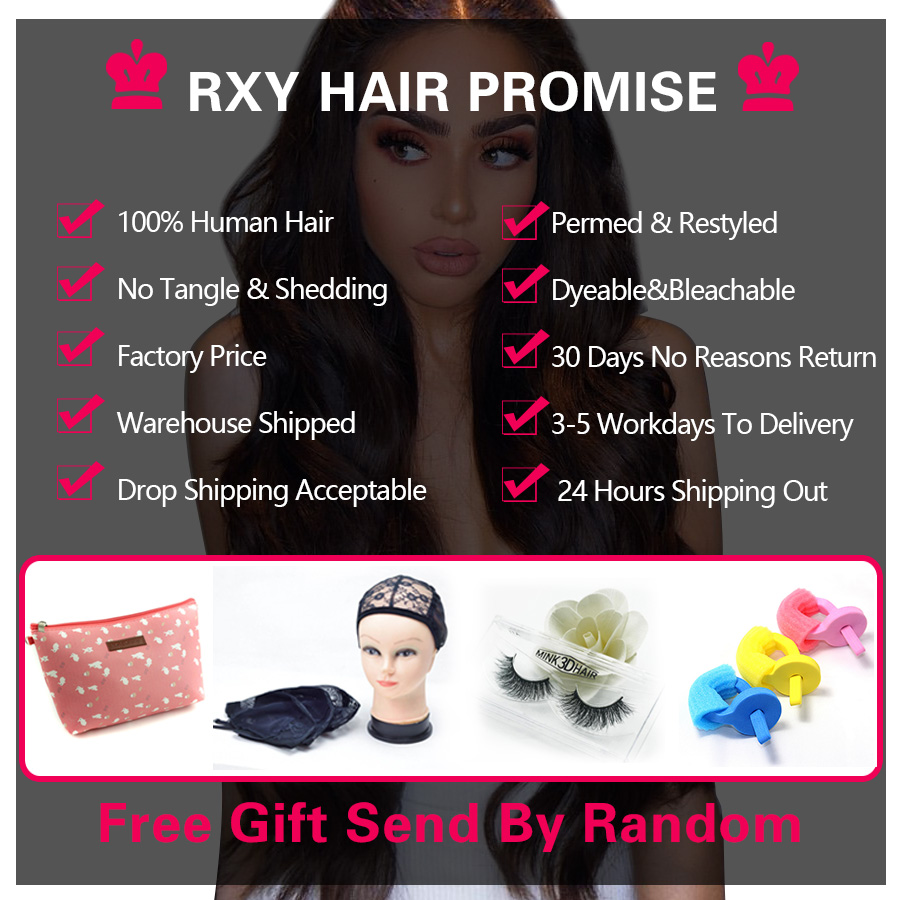 RXY 4x4 Long Straight Human Hair Lace Wigs Brazilian Remy Hair 150% Density Lace Wigs for Black Women