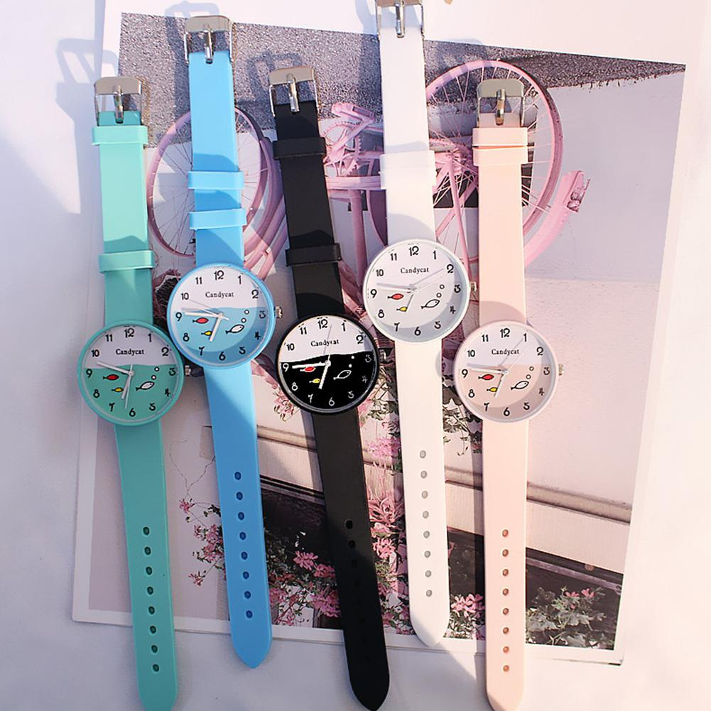 LinTimes Women Watches Fashion Simple Bright Colors Sweet Style Elagant Watch With Silica Gel Strap Female Wristwatch New