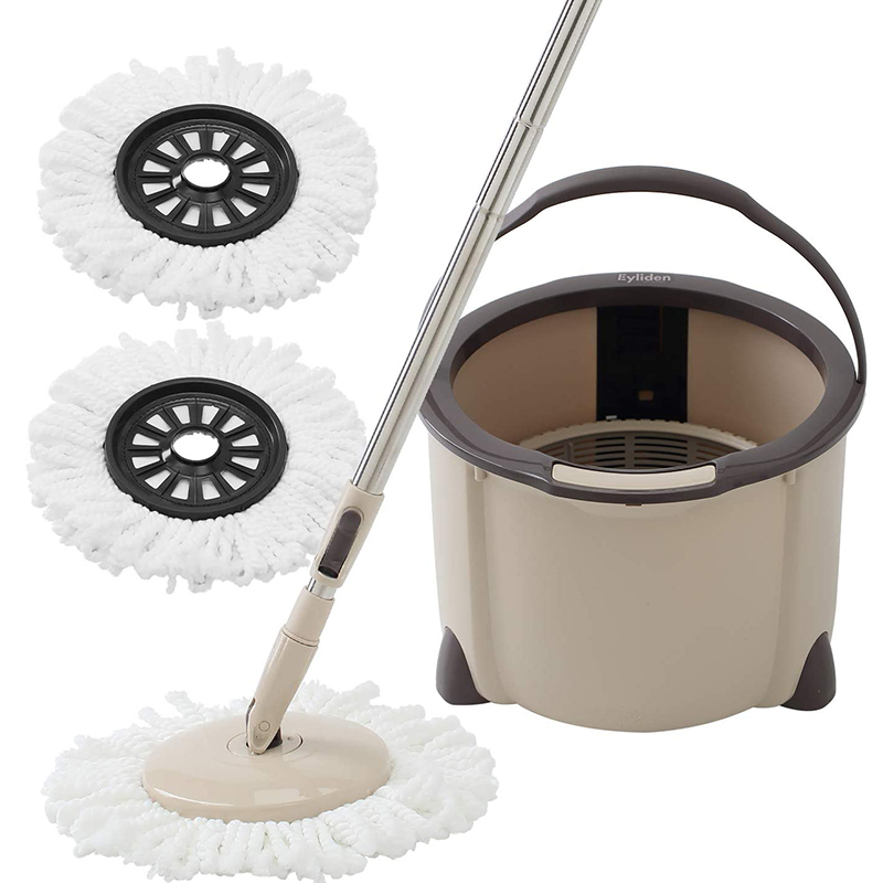 Reasonable Eyliden Spinning Mop 360 Degree Microfiber Rotating With Bucket Adjustable Handle 2 Microfibre Heads For Home Floor Cleaning