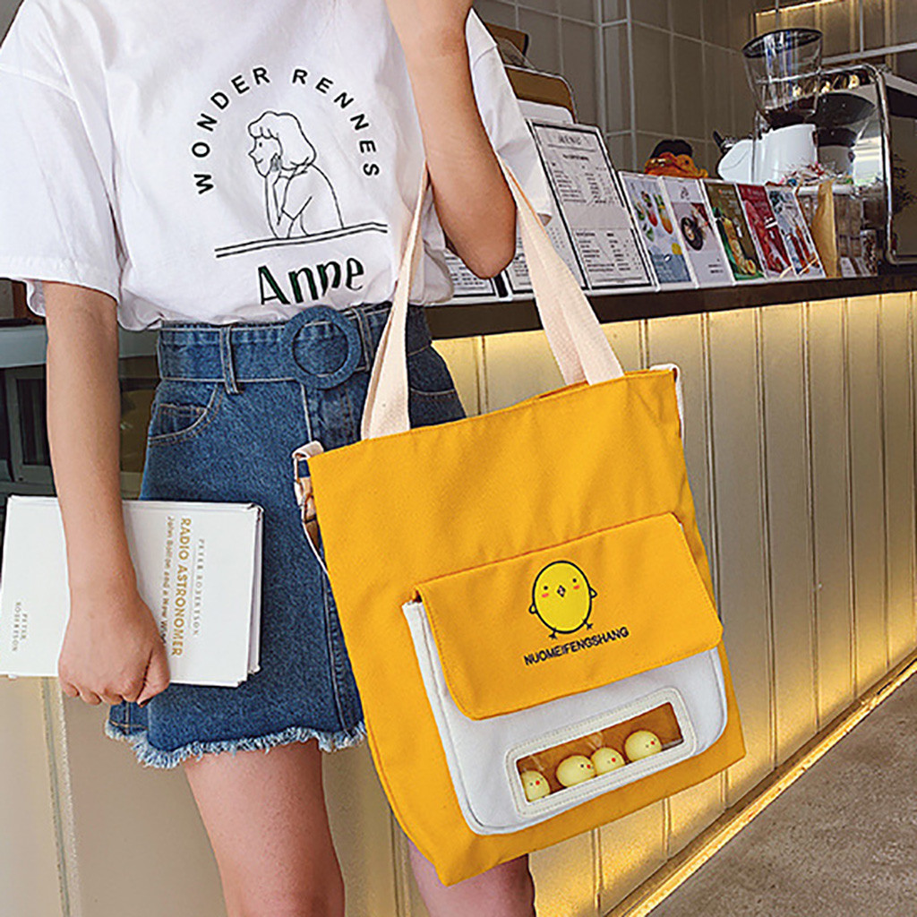 Cute Chick Shoulder Bags For Women Fashion Women Chick Purse Shoulder Bag Zipper Handbag Phone Bag Canvas Bag Handtassen Dames