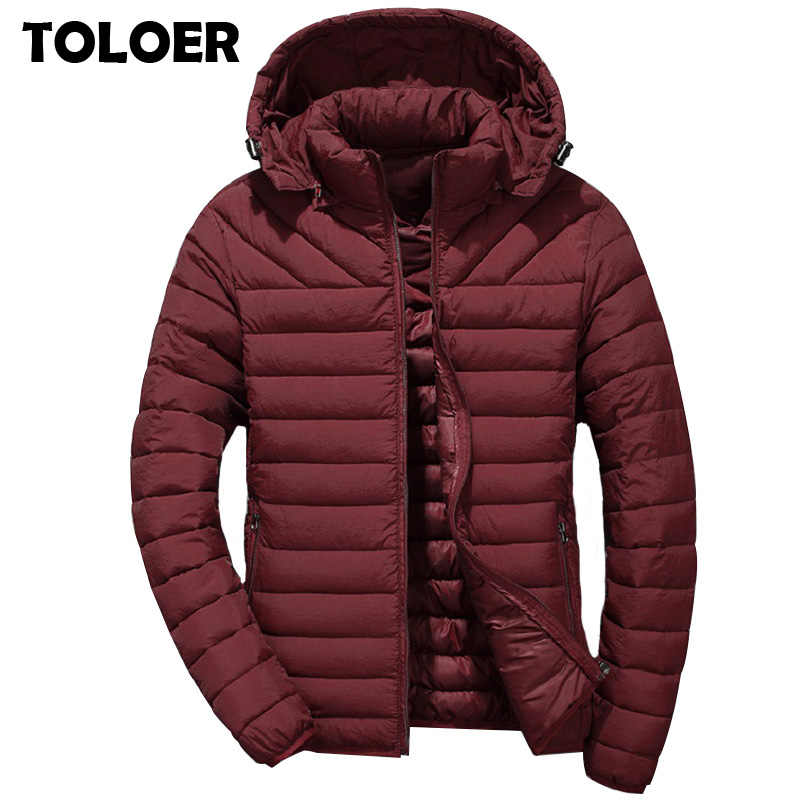 2019 Duck Down Jackets Men Brand Winter Warm Coat Mens Thick Hooded Ultralight Casual Parkas Male Fashion Cotton Padded Jackets