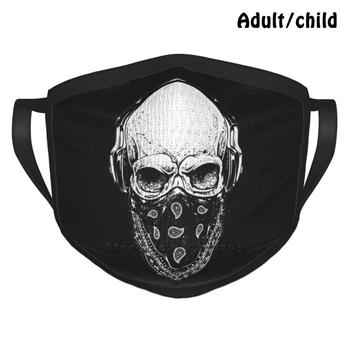 Skull Design Anti Dust Reusable Diy Face Mask Skull Bandana Punk Metal Metalhead Headbanger Punx Hardcore Underground Hardrock image