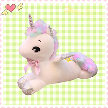 Giant 80cm Unicorn Plush Toy Soft Stuffed Popular Cartoon Doll Animal Horse Gifts for Children Girls Xmas Birthdayy