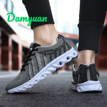 Damyuan 2019 New Men Casual Shoes Air Cushion Breathable Lightweight Comfortable Running Footwear Outdoor Sports Sneakers