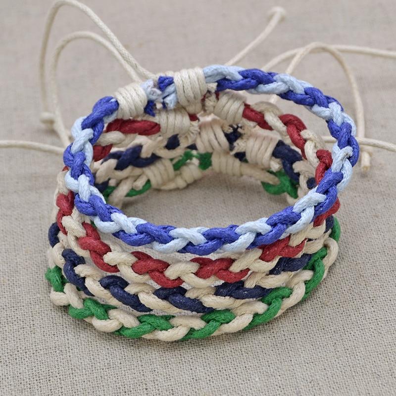 Bohemian Tibetan Woven Rope Bracelet for Women Men String Chain Adjustable Lucky Rope Corn Knot Bracelet Jewelry