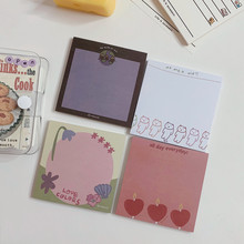 Mini Bloc de notas adhesivas para la agenda diaria, 50 hojas, marcador, Bloc de notas DIY, suministros de oficina, papelería escolar
