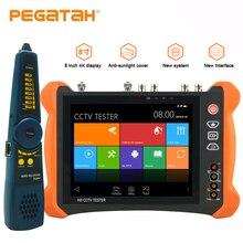 8 אינץ 4 K 8MP IP CCTV מצלמה בודק CVBS 8MP TVI CVI 5MP AHD SDI IP בודק עם HDMI OPM TDR מבחן מודד CCTV מצלמה בודק