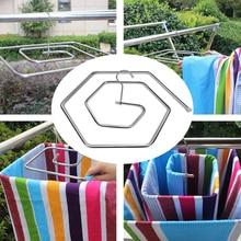 9,5 мм крепкий подшипник из нержавеющей стали спиральная форма Экономия пространства ржавчины вращающиеся полотенца двор одеяло сушилка балкон одеяло