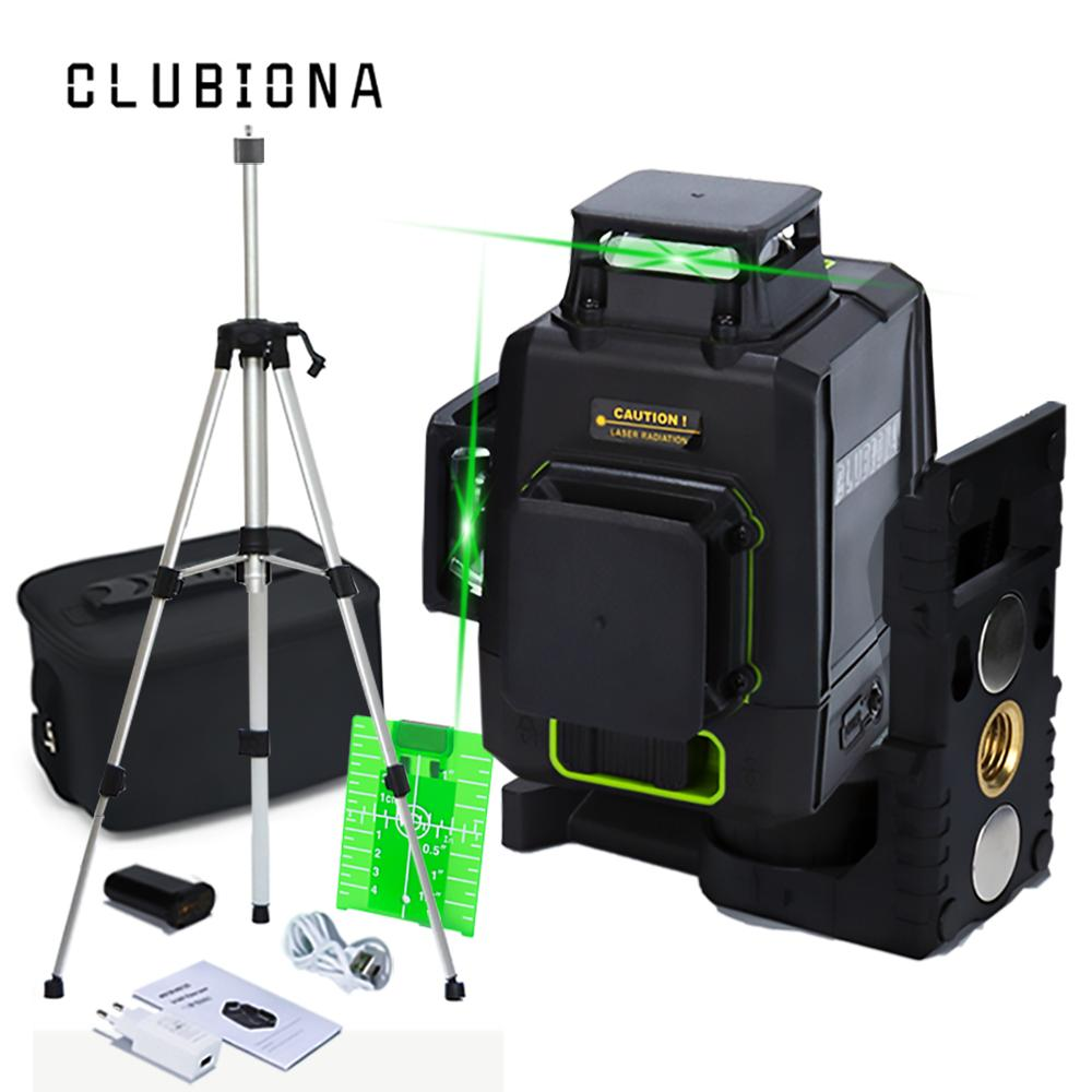 US $77.23 57% OFF|Clubiona CE certificated 3D Lines Laser Level with 5200 mah BATTERY & Horizontal And Vertical Lines Work Separately Laser Lines|Laser Levels| |  - AliExpress