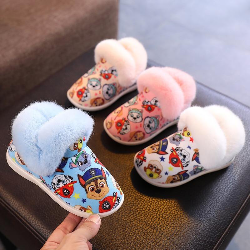 С принтом из мультфильма «Щенячий патруль; Детская обувь с мультфильмов для маленьких мальчиков и девочек обувь Chase Скай с рисунком Крепыша ...