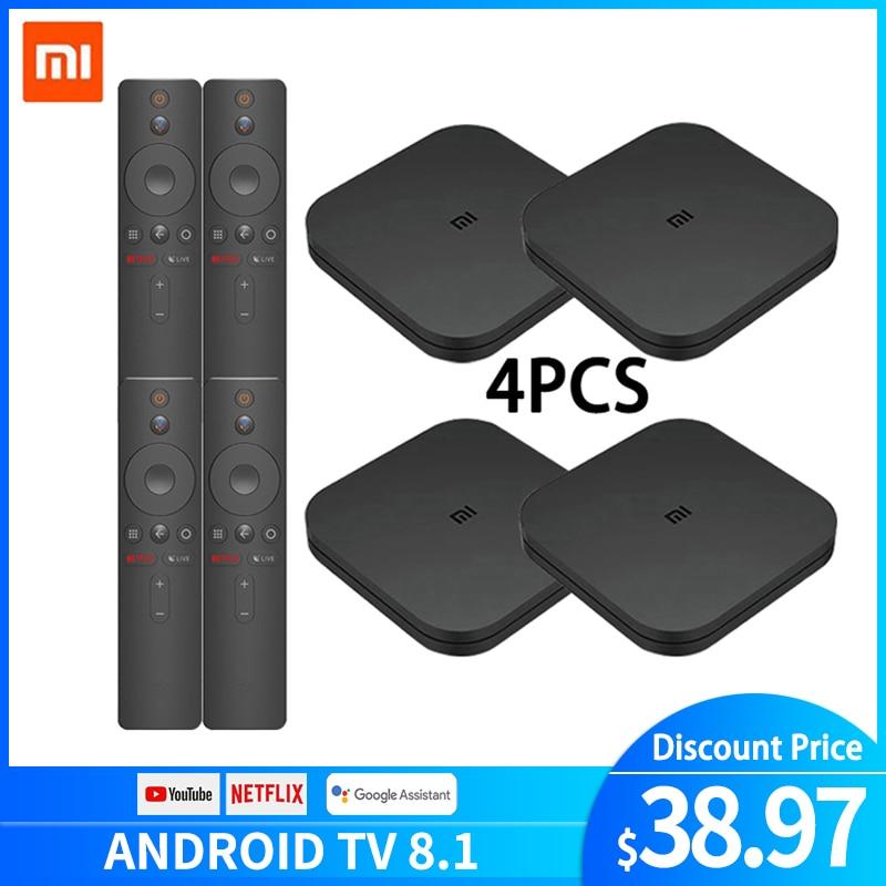 Original Xiaomi MI BOX TV BOX S New Arrival Android 8.0 2G/8G Smart Quad Core HDR Movie Set-top Box Multi-language Wholesale