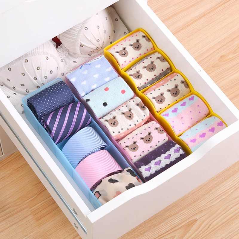 Простая стильная корзина для хранения Органайзер для гардероба для женщин и мужчин коробка для хранения носков нижнее белье пластиковый контейнер органайзер для макияжа