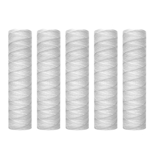 10 Micron 10 Inch x 2.5 Inch String Wound Sediment Water Filter Cartridge Whole House Sediment Filtration  Universal Replacement|Water Filter Cartridges| |  -