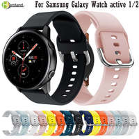 Cinturino in Silicone per Samsung Galaxy Watch Active 1 / 2 40mm 44 / 3 41mm cinturino braccialetti bracciale 20mm cinturino per Amazfit GTS 2