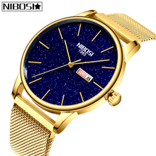 NIBOSI Fashion Mens Watches Top Brand Luxury Couple