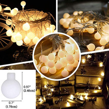 10m 20m 30m 220V EU Plug LED Ball String Lights Christmas Garland Fairy Light Outdoor For NEW Year Party Holiday Decoration led decorative street garland string fairy light 10 20m 30m decoration for christmas tree garden wedding new year holiday lights