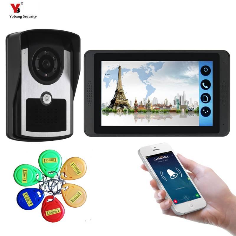 YobangSecurity Video Intercom 7 Inch Monitor RIFD Card Wifi Wireless Video Door Phone Doorbell Camera Intercom