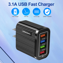 Wall-Charger Tablet Smart-Phone Mobile 4-Port for USB
