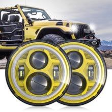 For Jeep CJ-7 CJ-8 Wrangler LJ TJ JK JL 1 Pair 7 Inch 51W High Low Beam LED Spider shape Headlights with DRL Turning Light