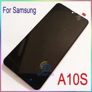 Image 2 - Samsung A10S LCD ekran A107F A107F/DS ile çerçeve ile dokunmatik meclisi yedek onarım parçaları