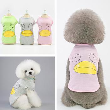 Cartoon kamizelka dla psa letnie ubrania dla psów ubrania dla zwierząt oddychająca odzież dla psów kamizelka dla szczeniąt kotów dla psów kostium ubrania dla zwierząt tanie i dobre opinie Mały pies