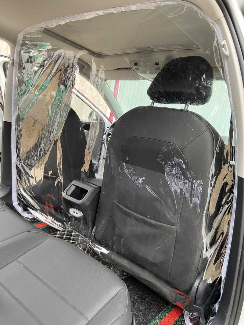 PVC Car Taxi Transparent Isolation Film Protective Cover Full Surround Insulation Car Cover Stickers Car Acessories Decoration