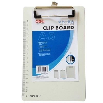 Writing Board Clip PP A5 Clipboard Writing Pad Student Pad 9247 Portfolio File Organizer  Folder Binder