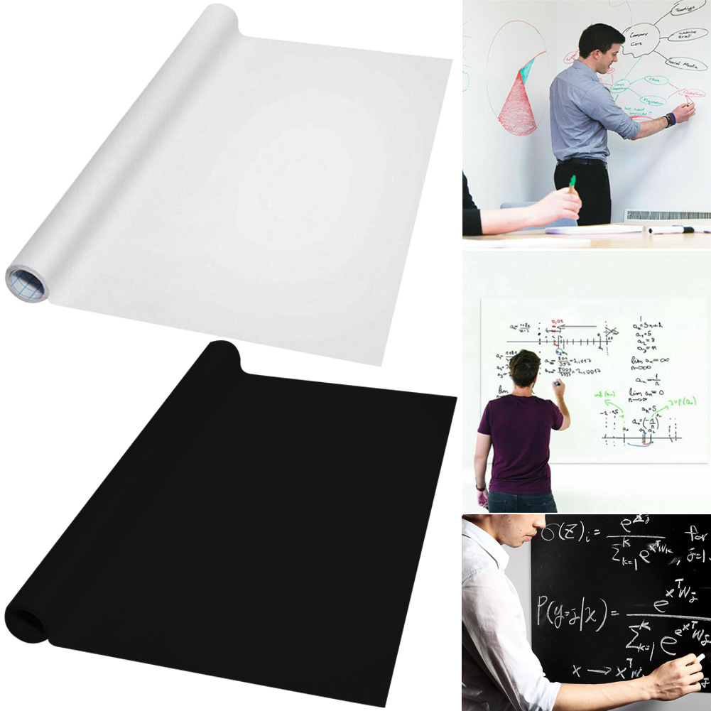 Reusable Roll Up Black/White Board Stickerboard Drawing Painting Board UY8
