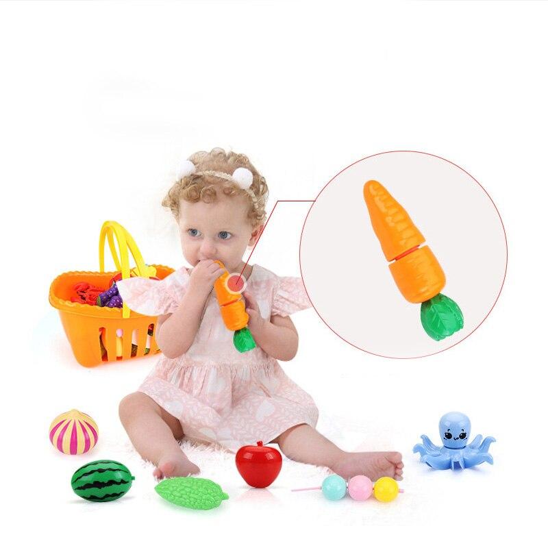 Детская кухня ролевые игры игрушки резка фрукты овощи морская еда Гамбург пиццы миниатюры еды дети Играть Дом Образование игрушка