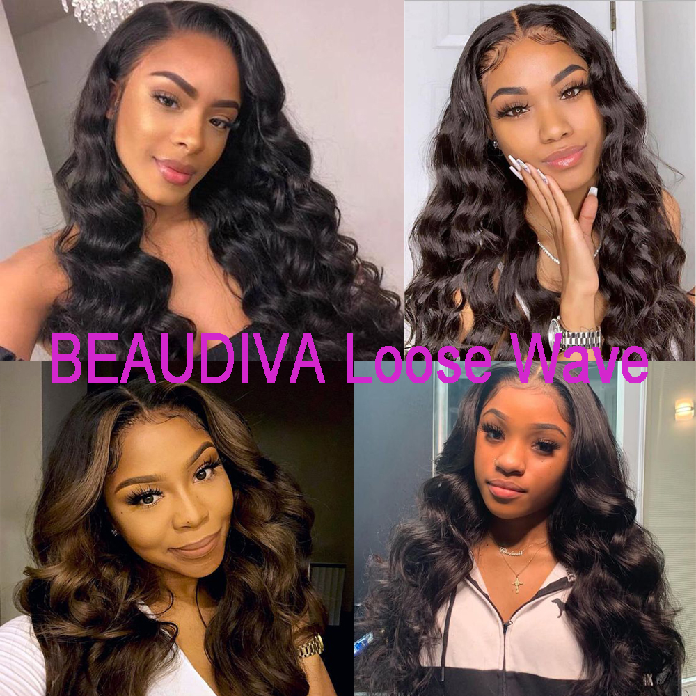 Beaudiva Hair   Bundles With Closure  3 Bundles With Closure Loose Wave Bundles With Closure 4
