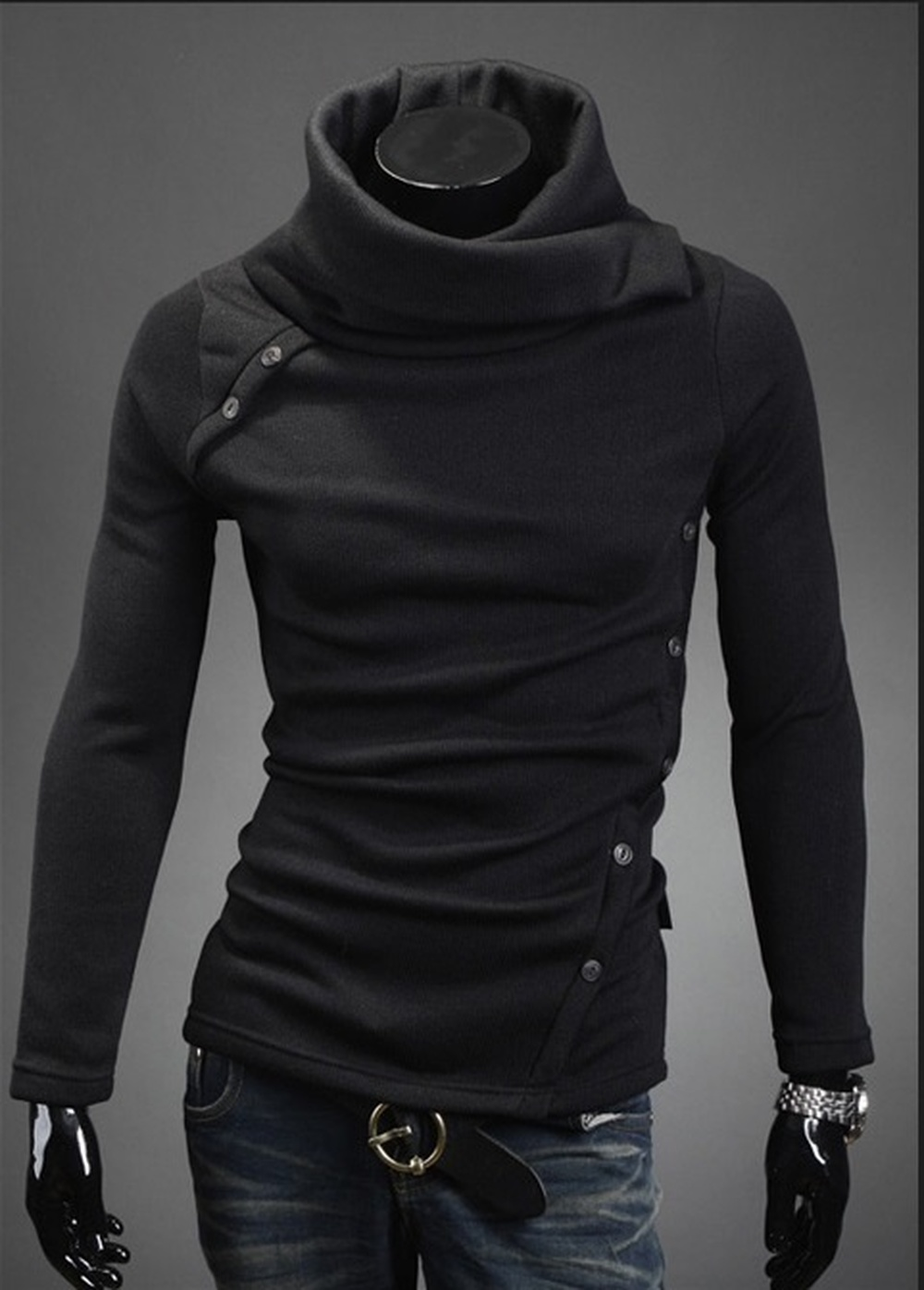 Zogaa 2019 Brand New mens pullovers solid color thin wool sweater turtleneck plus size sweater men's fashion Thermal long sleeve