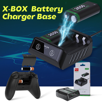2PCS 2650mAh Rechargeable Batteries For Xbox Series S X Wireless Handle Dual Battery Charger for Xbox One S X/Xbox One Elite 1